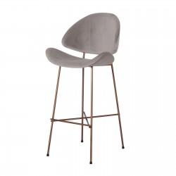 CHERI BAR VELOURS GOLD/ CHROME/ COPPER welurowe krzesło barowe