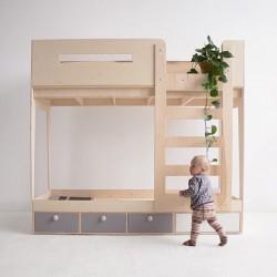ZZZIP. łóżko piętrowe ze sklejki w skandynawskim stylu