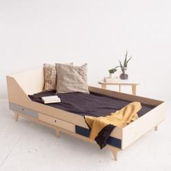 MUN.2 łóżko ze sklejki w skandynawskim stylu