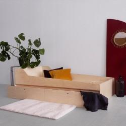 MUN.DOUBLE łóżko podwójne ze sklejki w skandynawskim stylu