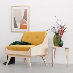 NORSK.SINGLE fotel, siedzisko ze sklejki w skandynawskim stylu