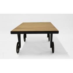 TOLIK 2 stolik na kółkach w stylu loftowym, polski design