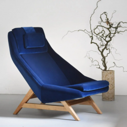 MITO duży fotel w stylu vintage, polski design