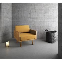 WOODIE fotel z litego drewna dębowego, polski design