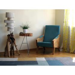 ENI fotel z litego drewna dębowego, polski design