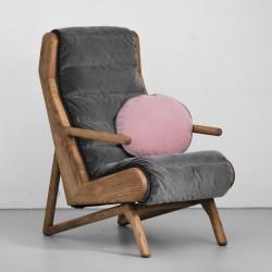 CAMELEON oryginalny dębowy pikowany fotel, polski design