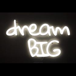 DREAM BIG LEDON świecący napis na ścianę neon