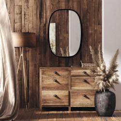 DOLIO CZARNE owalne lustro w skandynawskim stylu