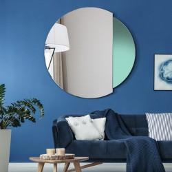 ECLIPSE nowoczesne, okrągłe, dwukolorowe lustro