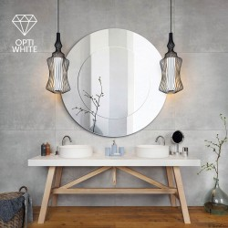 MODERN LINE OPTI WHITE okrągłe, dwukolorowe lustro w stylu modern
