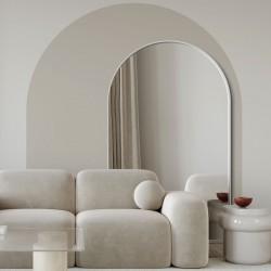 PORTAL STOJĄCE białe/czarne lustro z łukiem w stylu bauhaus
