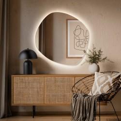 ROCO WIDE lustro podświetlane LED o nieregularnym, obłym kształcie