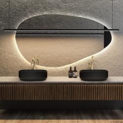 PLAMA NO.1 lustro podświetlane LED o organicznym kształcie