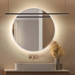 SCANDI SLIM BIAŁE okrągłe lustro podświetlane LED