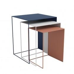 FUTU zestaw 3 nowoczesnych stolików kawowych w stylu industrialnym, polski design