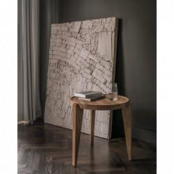 BONTRI okrągły stolik kawowy z litego drewna dębowego