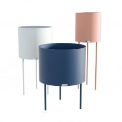 MOKA ZESTAW 3 minimalistycznych metalowych doniczek, polski design