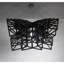 CZARNA GWIAZDA ażurowa lampa wisząca, polski design