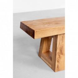 MASS ławka z litego drewna dębowego polski design