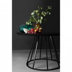 SUN okrągły stół z drewnianym blatem polski design