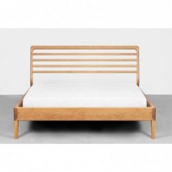 LARK łóżko z litego drewna dębowego, polski design