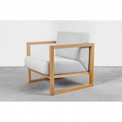 CUBE wygodny fotel z litego drewna dębowego, polski design
