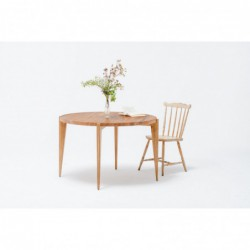 BONFOR okrągły stół z litego drewna, polski design
