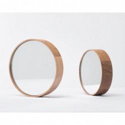 DORIAN okrągłe lustro z litego drewna
