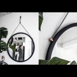 SCANDI POWER CHEVRON okrągłe lustro w skandynawskim stylu