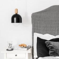 LOFT OVOI czarna metalowa lampa wisząca w industrialnym stylu