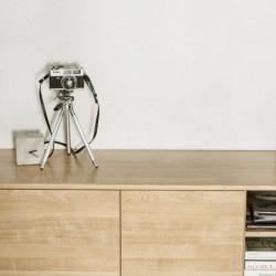 OSLO TROMSO drewniana szafka rtv w skandynawskim stylu
