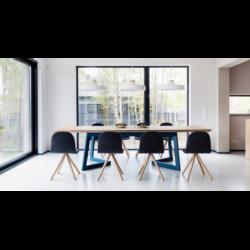 ANTONIO stół z drewnianym blatem styl loftowy