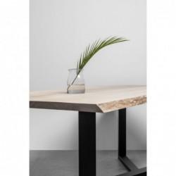 KING stół z drewnianym blatem w stylu loftowym