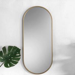 AMBIENT SLIM ZŁOTE owalne lustro w skandynawskim stylu