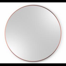 SCANDI SLIM MIEDZIANE okrągłe lustro w skandynawskim stylu