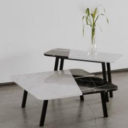FORM-D stolik kawowy z kamiennym blatem polski design