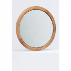 DYSK 1 DĄB okrągłe lustro z litego drewna