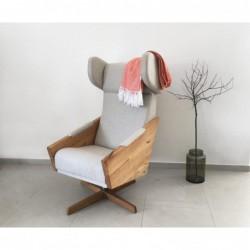 LIU SVIWEL duży fotel uszak polski design