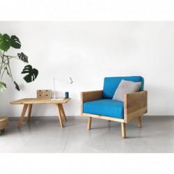WOODIE fotel z litego drewna polski design