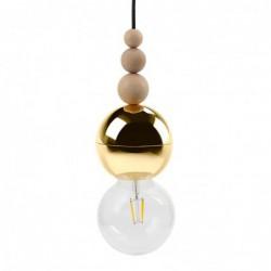 LOFT BALA ZŁOTA lampa wisząca styl loftowy
