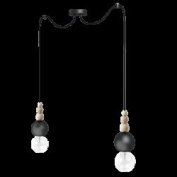 LOFT BALA 2 CZARNA lampa wisząca styl loftowy