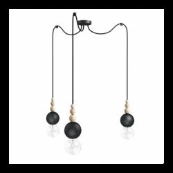 LOFT BALA 3 CZARNA lampa wisząca styl loftowy