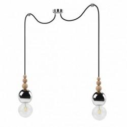 LOFT BALA 2 CHROM lampa wisząca styl loftowy