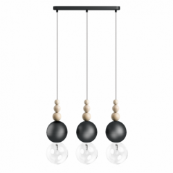 LOFT BALA 3L CZARNA lampa wisząca styl loftowy
