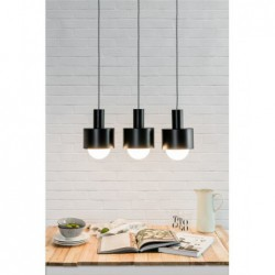 ENKEL 3 CZARNA lampa sufitowa wisząca styl loftowy