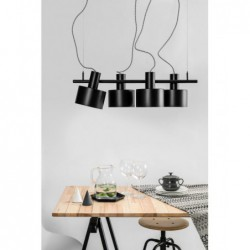 ENKEL 4 CZARNA lampa sufitowa wisząca styl loftowy
