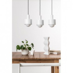 ENKEL 3 BIAŁA lampa sufitowa wisząca styl loftowy