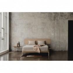 PUFF łóżko z litego drewna dębowego, polski design