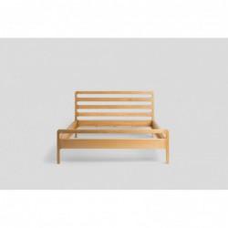 HARMONY łóżko z litego drewna dębowego, polski design