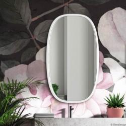 DOLIO BIAŁE owalne lustro w skandynawskim stylu